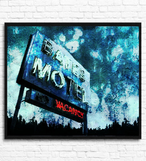 Bates Motel Psycho Wall Art, Poster, Painting