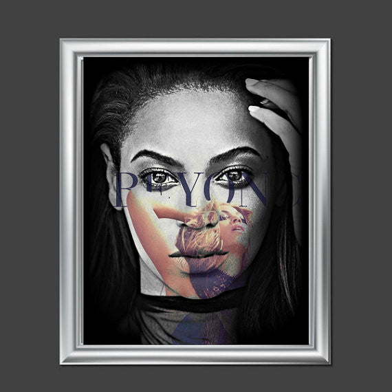 Beyonce Wall Art by Lisa Jaye