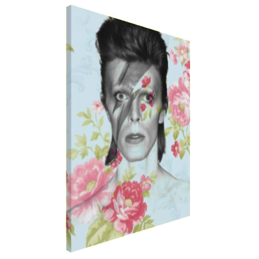 David Bowie Canvas Art by Lisa Jaye