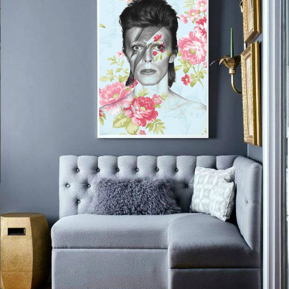 David Bowie Wall Art by Lisa Jaye