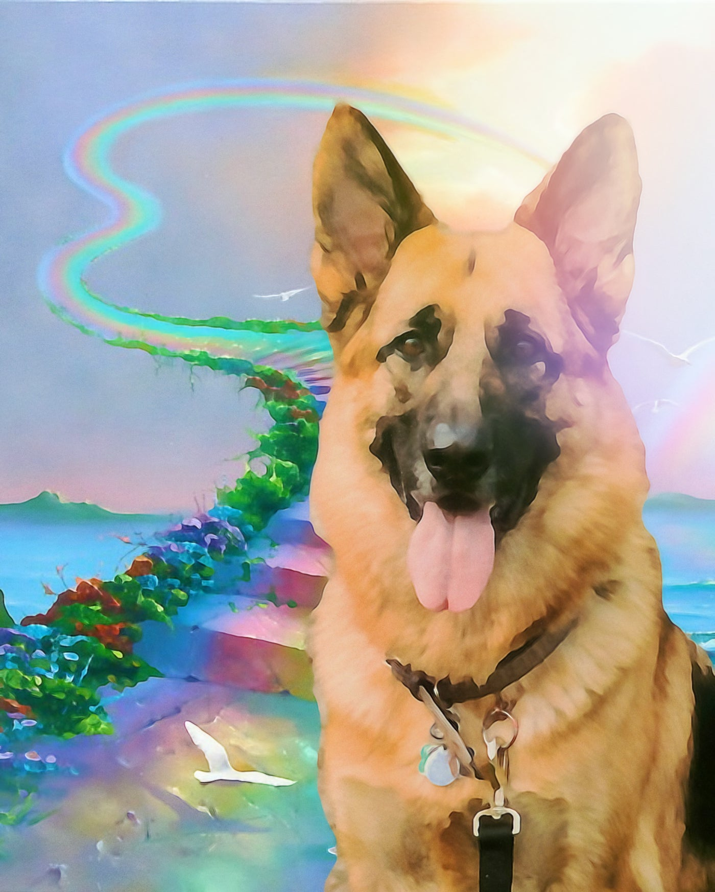 Rainbow Bridge Dog Art