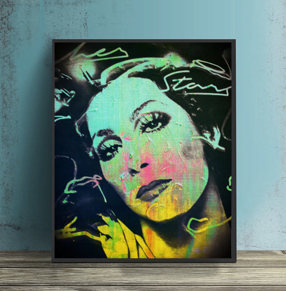 Cher Wall Art Canvas Poster Print by Lisa Jaye