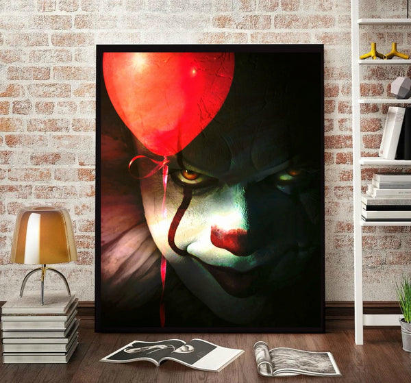 Stephen King It Pennwise Wall Art Print Poster Painting
