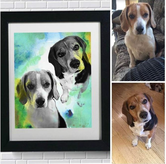 Custom Pet Art - Color Splash Style