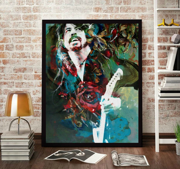Dave Grohl Wall Art Artwork Canvas Poster Art Print