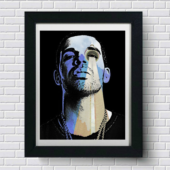 Drake Art Print, Wall Art, Poster, Artwork, Canvas