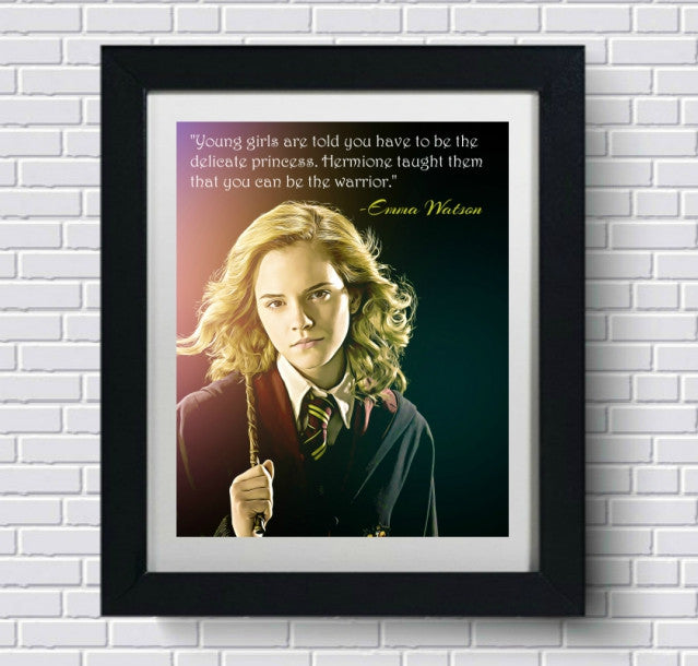 Emma Watson Hermione Harry Potter Wall Art, Art Print, Poster, Canvas, Painting