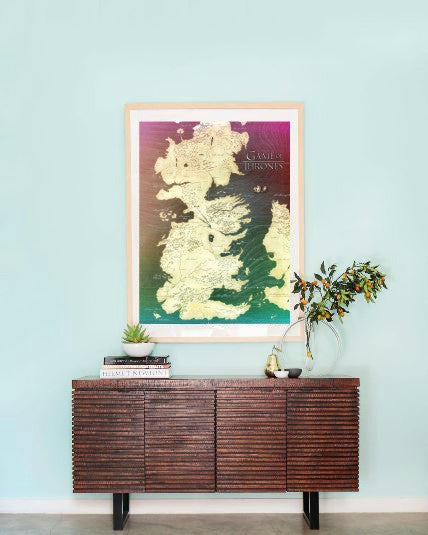 Game of Thrones Westeros Map Wall Art  | Lisa Jaye Art Designs
