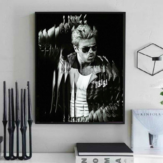 George Michael Wall Art, Poster, Canvas