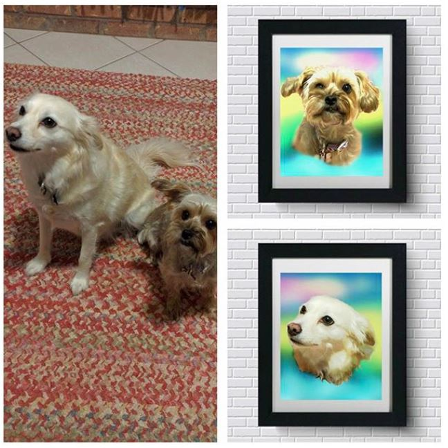 Custom Pet Art - Rainbow Glow Style