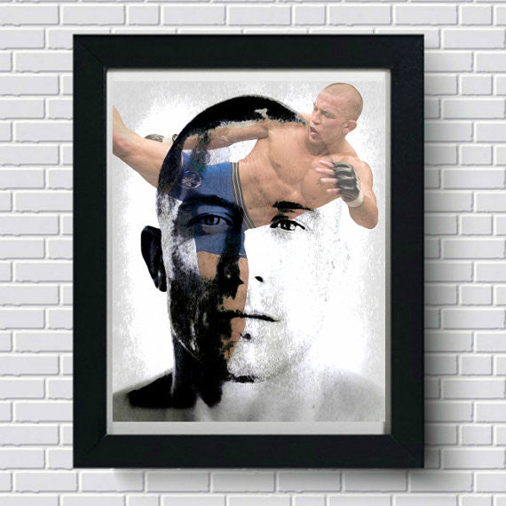 Georges St-Pierre Wall Art Art Print, Wall Art, Poster, Artwork, Canvas