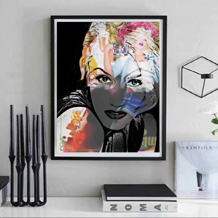 Gwen Stefani Wall Art by Lisa Jaye