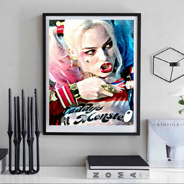 Harley Quinn Suicide Squad Wall Art  | Lisa Jaye Art Designs