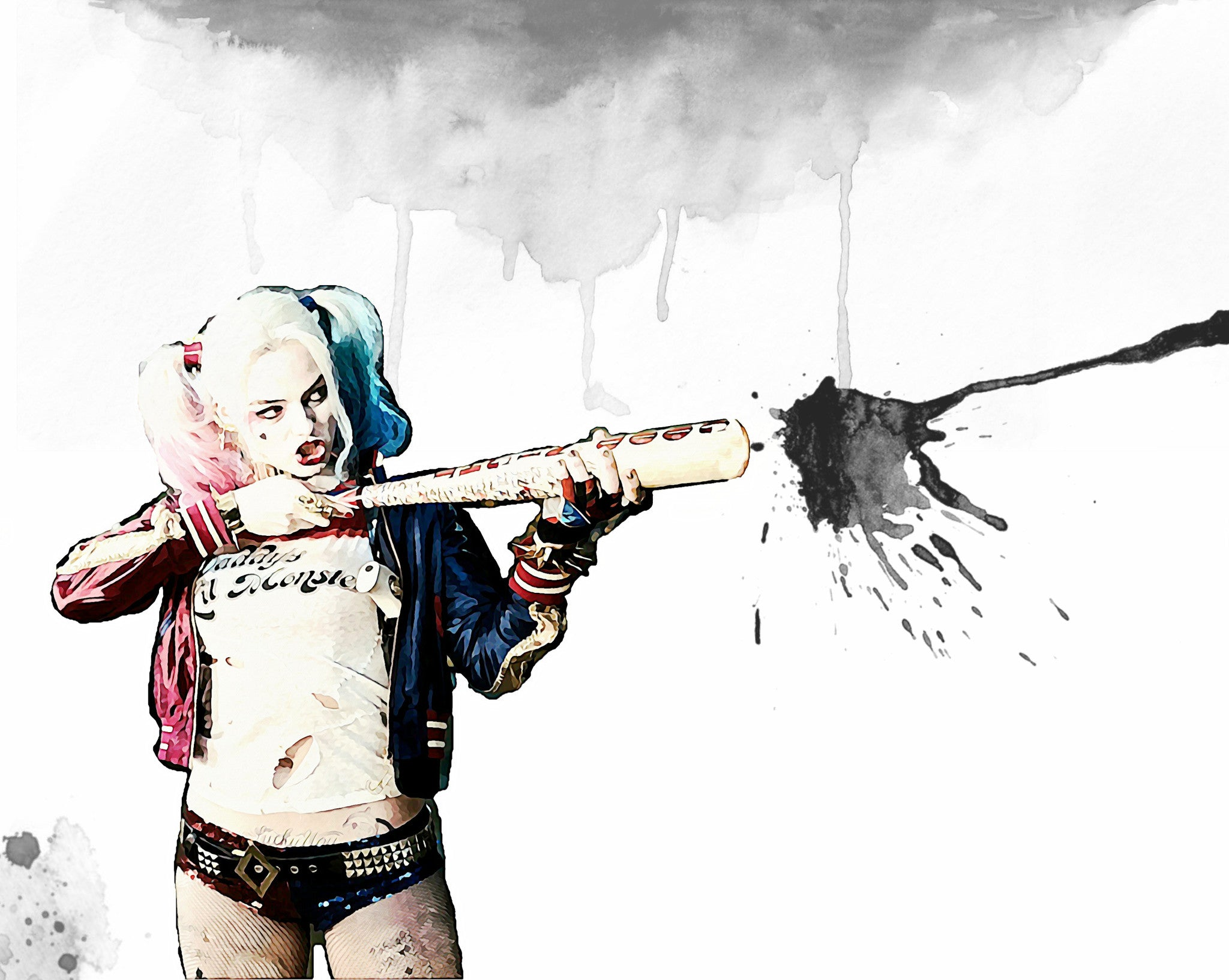 Harley Quinn Wall Art by Lisa Jaye