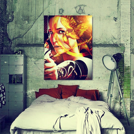 Hunger Games Katniss Wall Art by Lisa Jaye