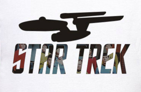 Star Trek Cast T-Shirt by Lisa Jaye