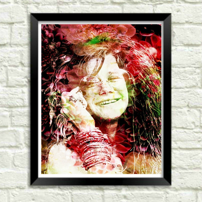 Janis Joplin Wall Art Painting Art Print Canvas