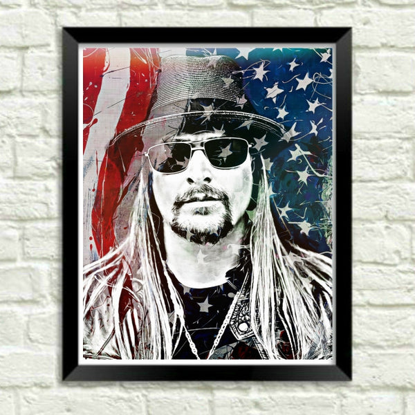 Kid Rock Wall Art Print Poster Canvas Painting