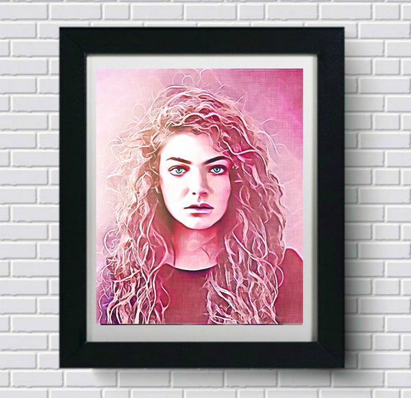 Lorde Wall Art Painting Poster Canvas Artwork