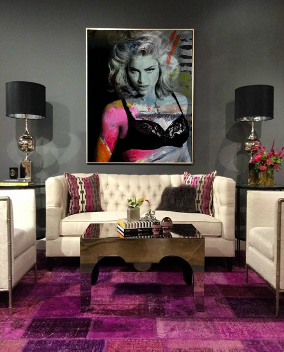 Madonna Wall Art, Artwork, Poster, Painting