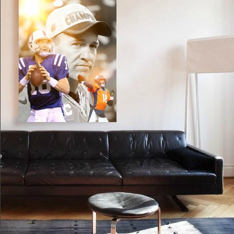 Peyton Manning Art Print, Wall Art, Poster, Artwork, Canvas