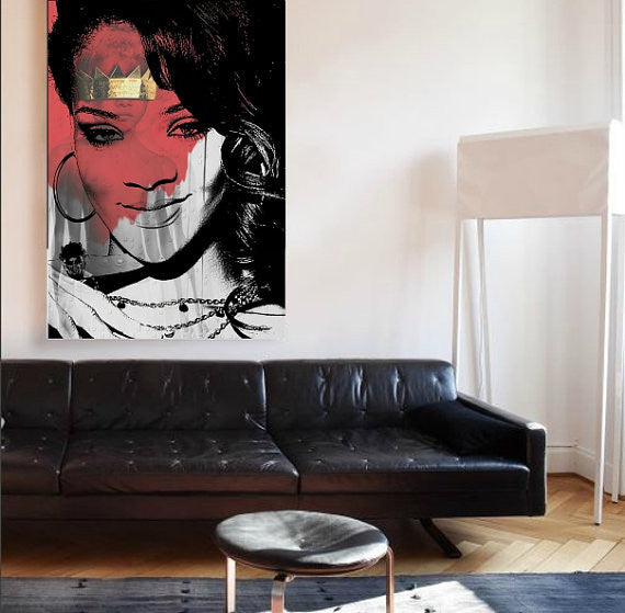 Rihanna Wall Art by Lisa Jaye