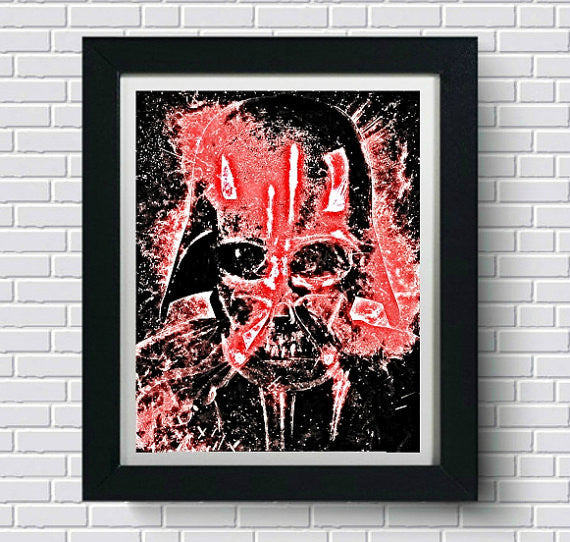 Star Wars Wall Art Rogue One Darth Vader  | Lisa Jaye Art Designs