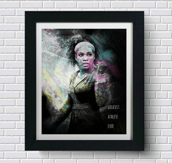 Serena Williams Wall Art  | Lisa Jaye Art Designs