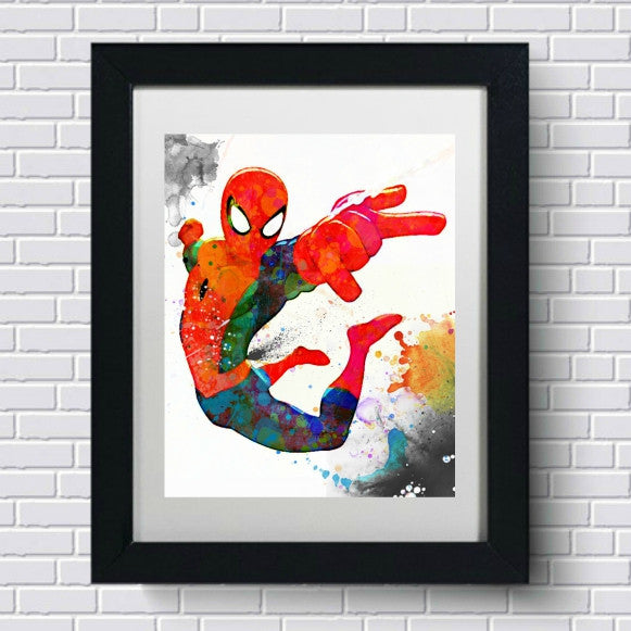 Spider Man Nursery Wall Art by Lisa Jaye