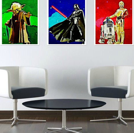 Star Wars Wall Art Set by Lisa Jaye