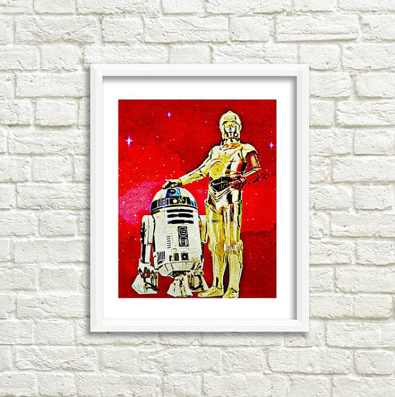 Star Wars C3PO Art by Lisa Jaye