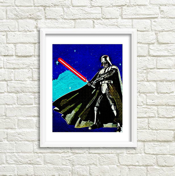 Star Wars Darth Vader Wall Art by Lisa Jaye