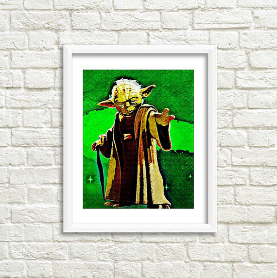Star Wars Yoda Wall Art by Lisa Jaye