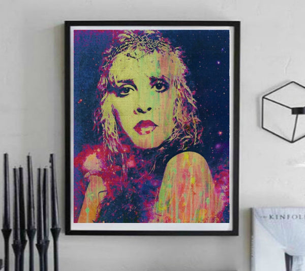 Stevie Nicks Wall Art Poster Painting Canvas Art Print