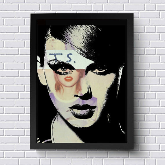 Taylor Swift Wall Art by Lisa Jaye