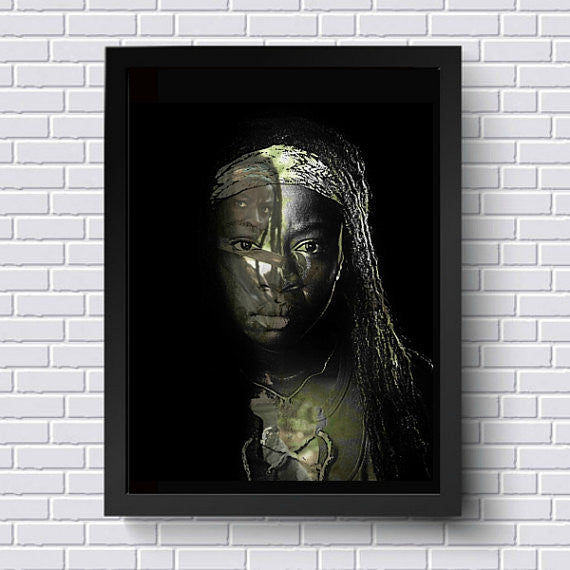 TWD The Walking Dead Michonne Wall Art Artwork Poster