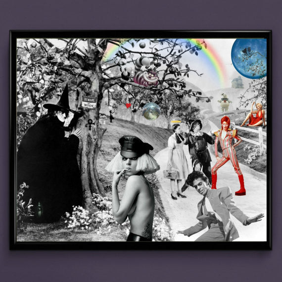 Wizard of Oz, Lady Gaga, Prince, David Bowie, Wall Art