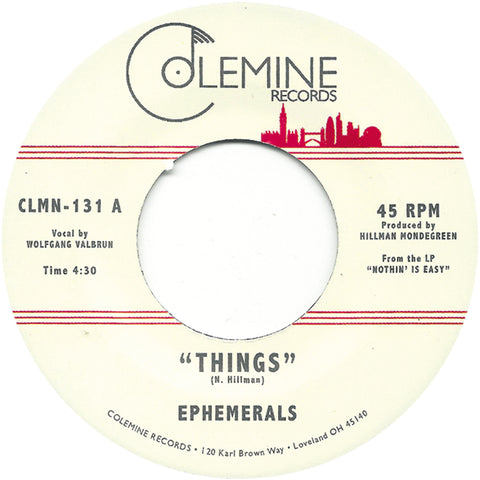 <b>EPHEMERALS</b><br><i>Things</i>