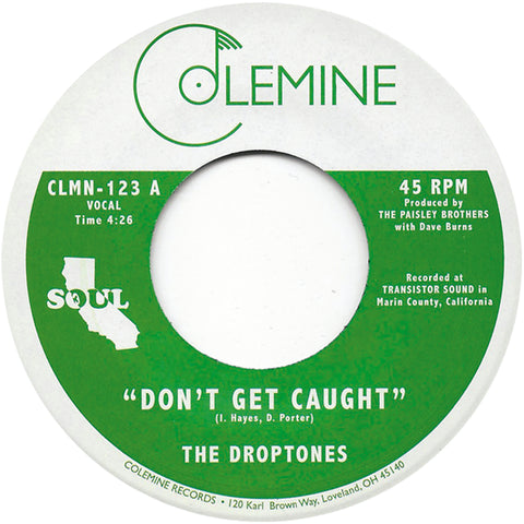 <b>THE DROPTONES</b><br><i>Don't Get Caught</i>