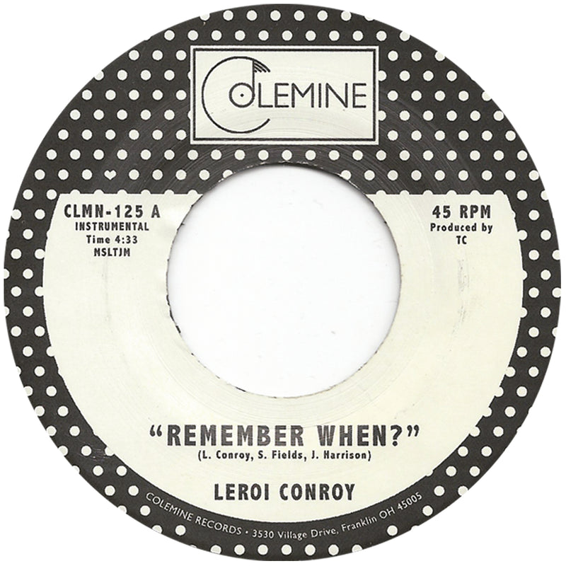 LEROI CONROY - Remember When?