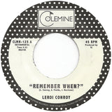<b>LEROI CONROY</b><br><i>Remember When?</i>