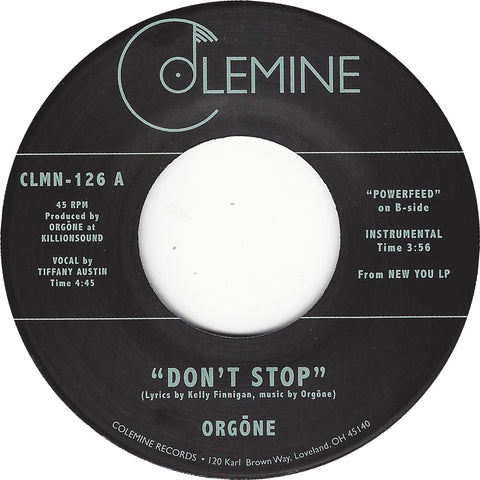 <b>ORGONE</b><br><i>Don't Stop</i>