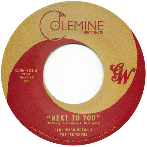 <b>GENE WASHINGTON & THE IRONSIDES</b><br><i>Next To You</i>