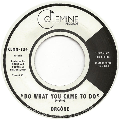 <b>ORGONE</b><br><i>Do What You Came To Do</i>