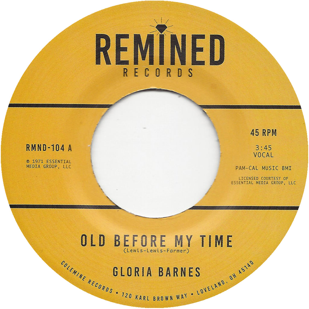<b>GLORIA BARNES</b><br><i>Old Before My Time</i>
