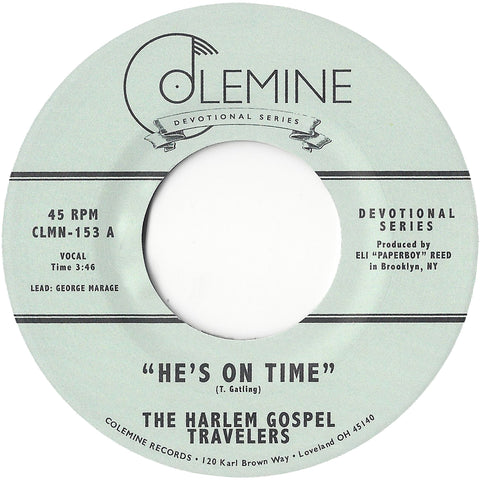 <b>THE HARLEM GOSPEL TRAVELERS</b><br><i>He's On Time</i><br>