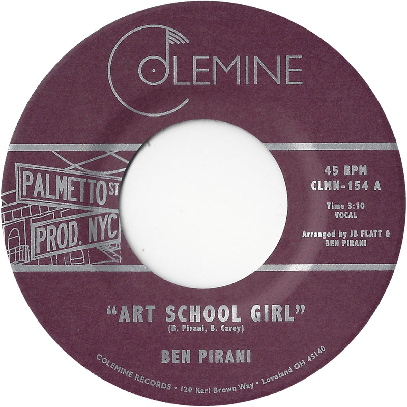 BEN PIRANI - Art School Girl