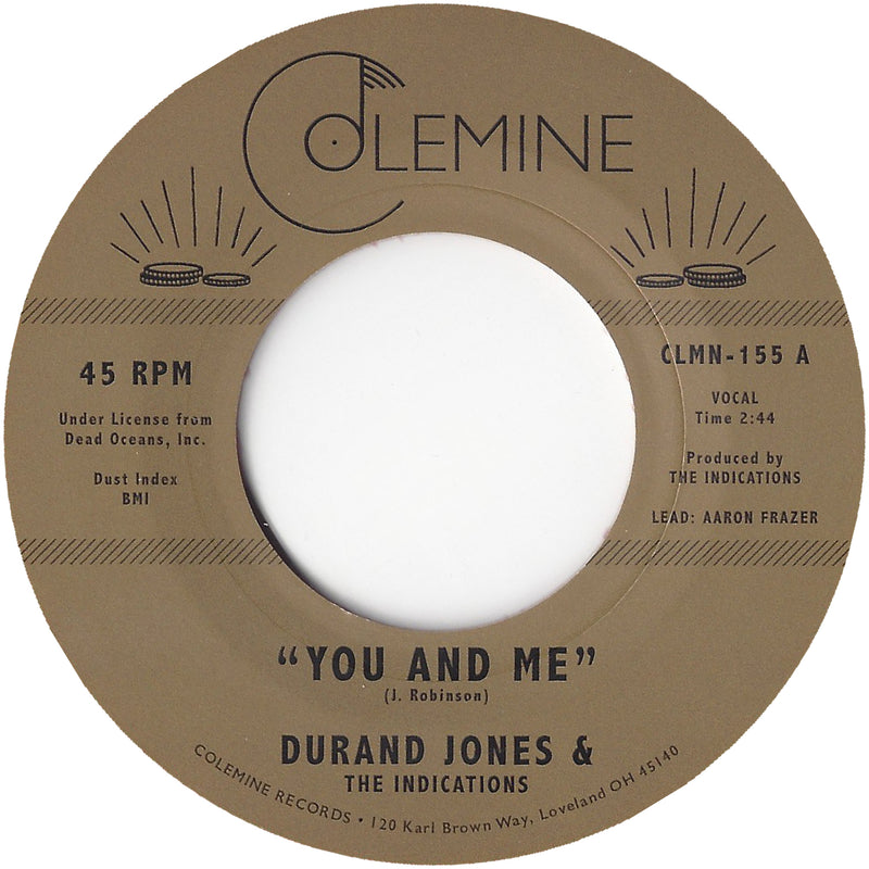 DURAND JONES & THE INDICATIONS - You And Me