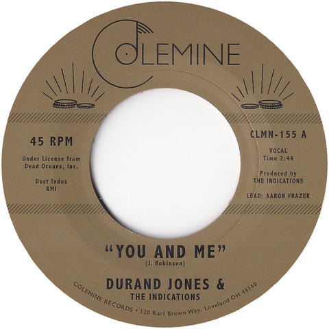 <b>DURAND JONES & THE INDICATIONS</b><br><i>You And Me</i>