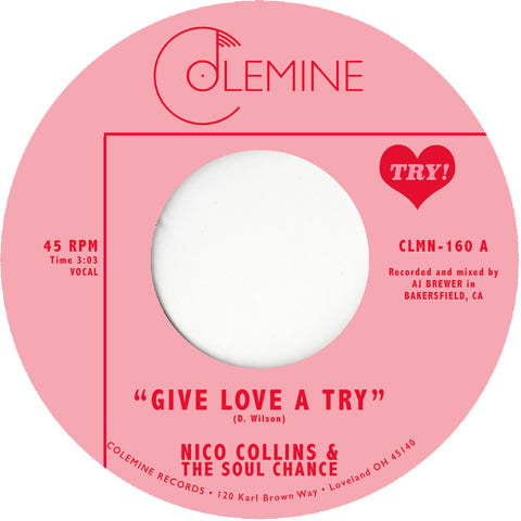 "<b>NICO COLLINS & THE SOUL CHANCE</b><br><i>Give Love A Try</i><br><font color=""FF0000"">Release Date: 10/19/2018</font>"